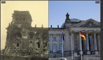 Berlin, in 1945, and 2015.