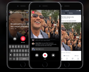Stream live video through Facebook Mentions